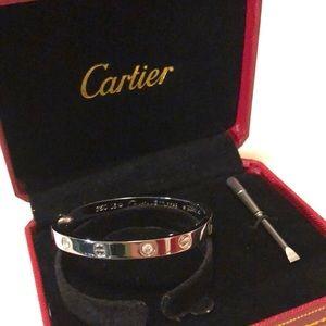 Love bangle screw bracelet size 16